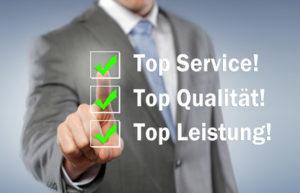Top Service, Qualität, Leistung